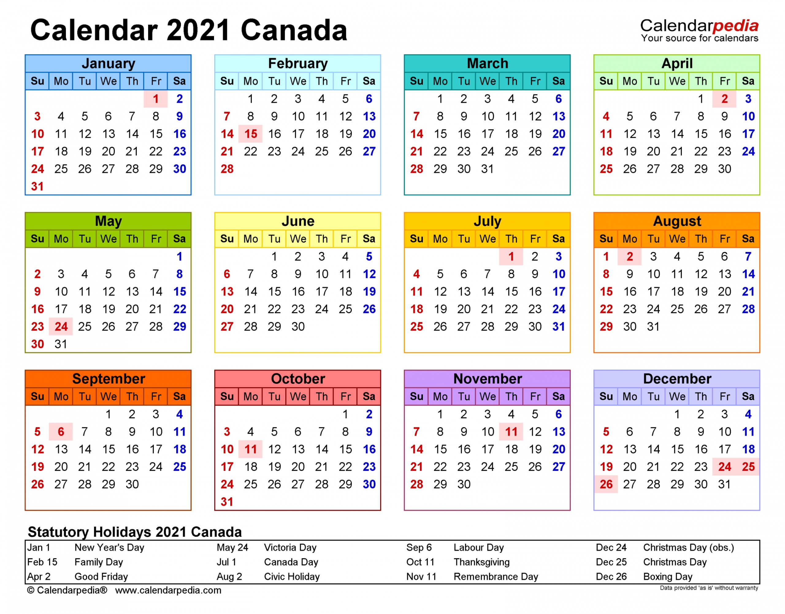 Free Printable Year Planner 2021 Free Letter Templates