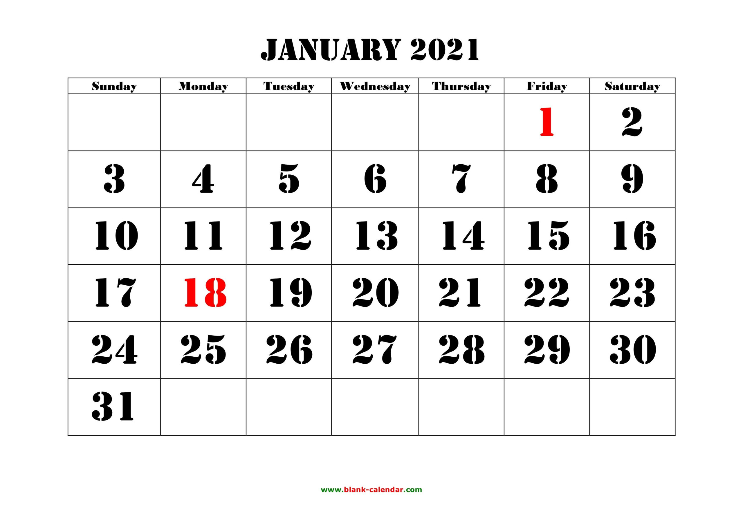 Printable Blank Calendar 2021 Yearly And Monthly
