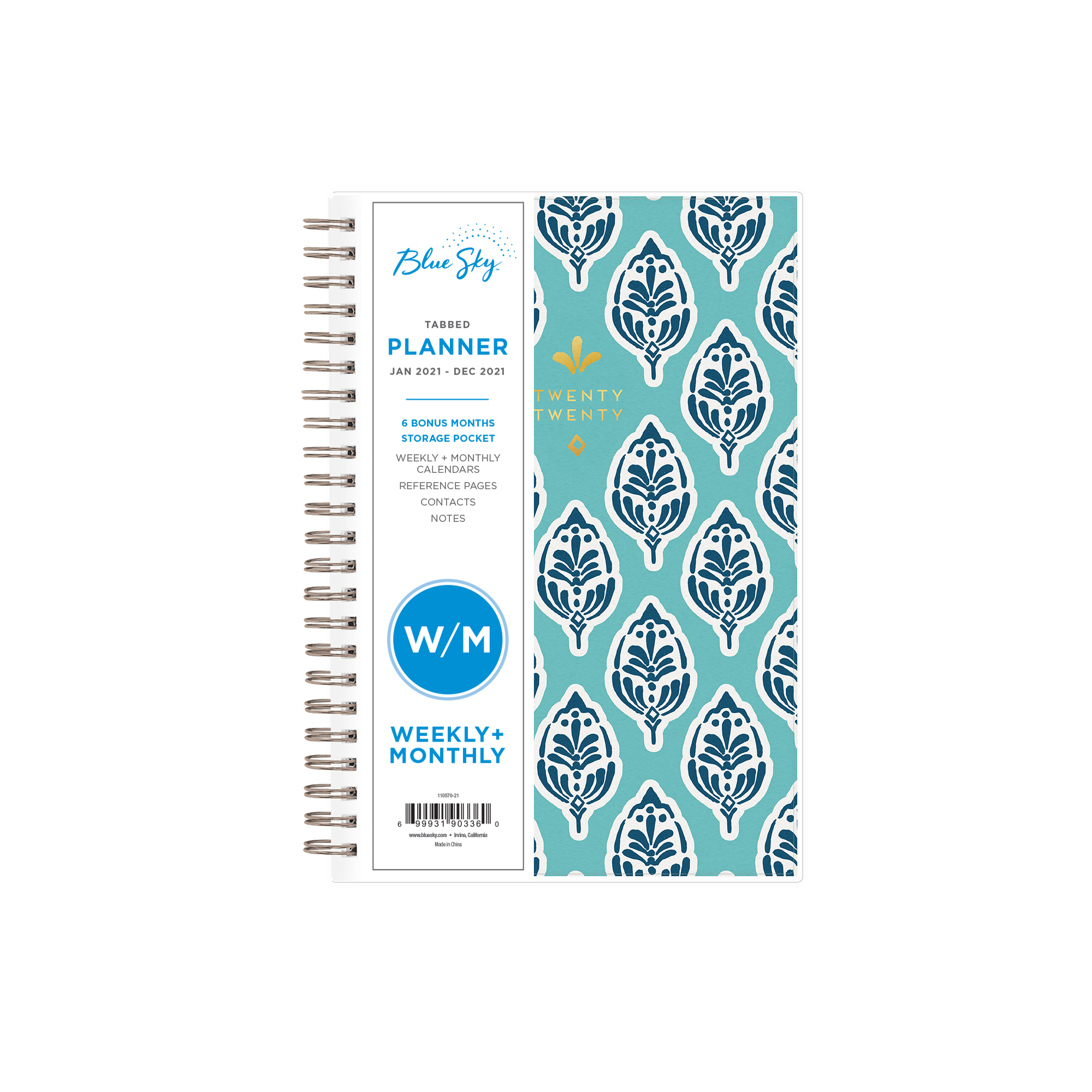Blue Sky 2021 Weekly Monthly Planner 5 X 8 Sullana