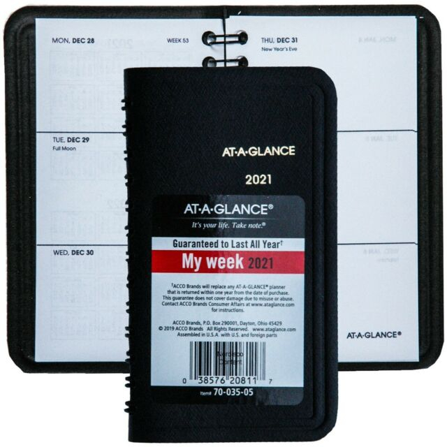 2021 At A Glance 70 035 70 035 05 Weekly Pocket Planner
