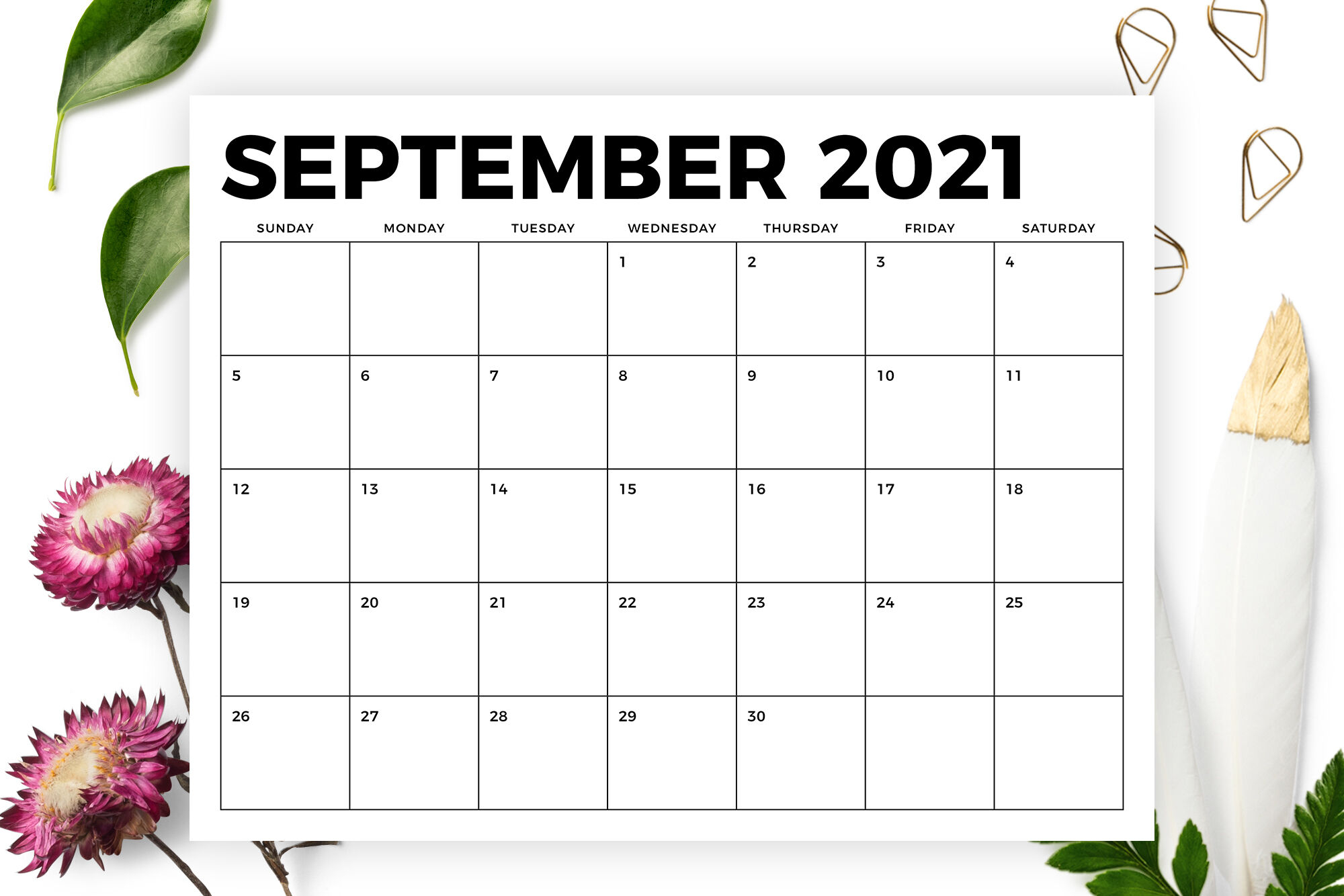 8 5 X 11 Inch Bold 2021 Calendar By Running With Foxes