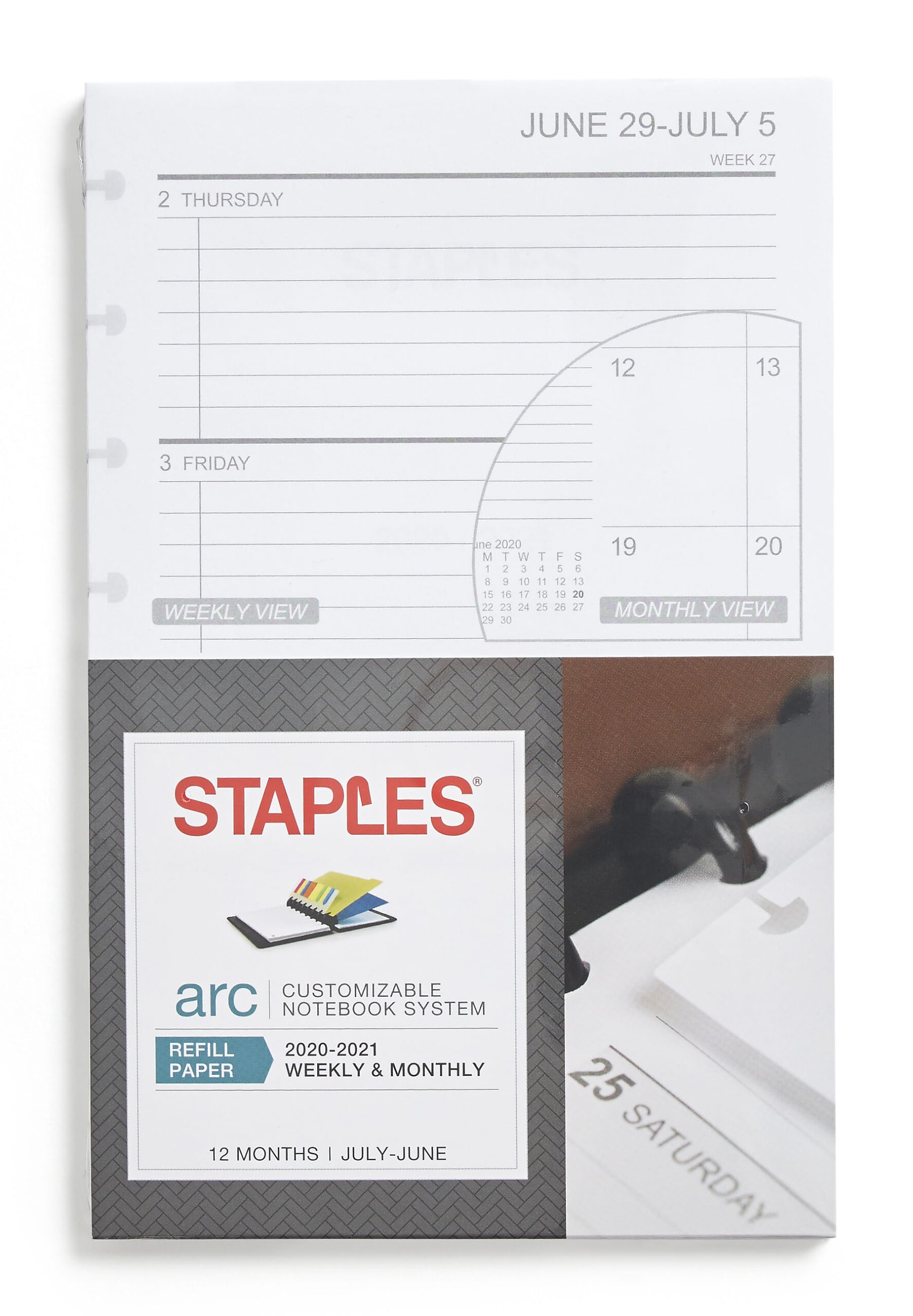 Staples 2020 2021 Academic Year Weekly Planner Refill