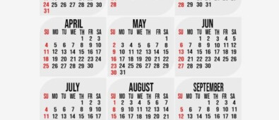 2021 Calendar Template With Background Design 2021