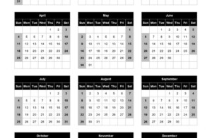 Download 2021 Yearly Calendar Sun Start Excel Template