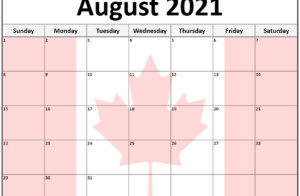 Collection Of August 2021 Photo Calendars With Image Filters